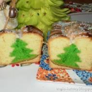 świąteczne ciasto z choinką