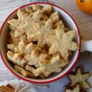Kruche ciasteczka pomarańczowo-cynamonowe