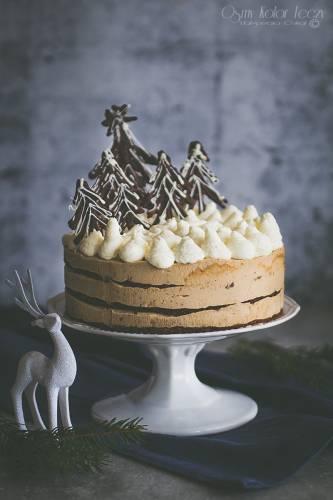 Piernikowy tort mocha