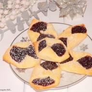 Ciasteczka smalcówki z powidłami śliwkowymi.