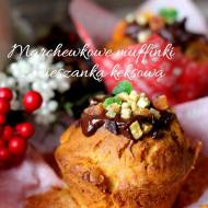 Marchewkowe muffinki z mieszanką keksową
