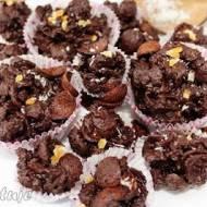 Pralinki/trufle mocno czekoladowe z płatków śniadaniowych