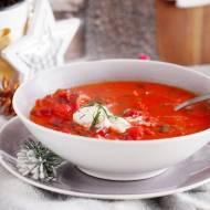 Zupa z pieczonymi burakami i kapustą / Roasted beet and cabbage soup