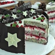 Makowy tort z żurawiną pod gwiazdami