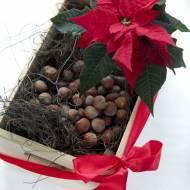 Stroik świąteczny z gwiazdą betlejemską