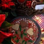 Świąteczny tort marcepanowy
