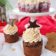 Babeczki czekoladowe z kremem piernikowym
