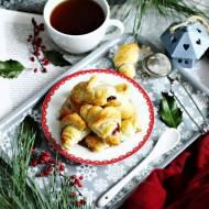 Najszybsze żurawinowe rogaliki ze świątecznym nadzieniem
