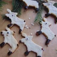 Świąteczne ciasteczka renifery.