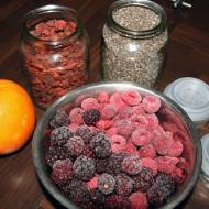 Dżem z malin, nasion chia i jagód goji / Goji berries, raspberries and chia seeds jam