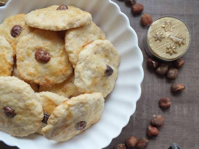 Ciasteczka śmietankowe z orzeszkiem