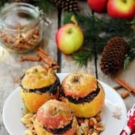 Pieczone jabłka nadziewane masą makową