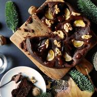 Bezglutenowe piernikowe brownie z quinoą i mandarynką