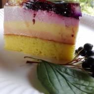 Kolorowe ciasto galaretkowe