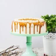 Tort piernikowy z solonym karmelem. 3 urodziny bloga!