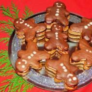 Ekspresowe pierniczki z nadzieniem różanym i polewą czekoladową