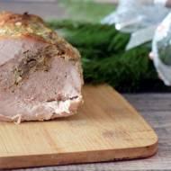 Rolada ze schabu z mięsem mielonym i pieczarkami