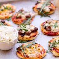 Mini pizze na sylwestrowo