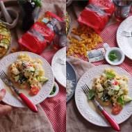 Zapiekanka makaronowa w stylu włoskim.