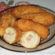 ziemniaczane krokiety z szynką i serem-pyszne,chrupiące,idealne na imprezę