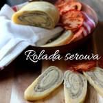 Rolada serowa z pieczarkami i suszonymi pomidorami