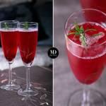 Sylwestrowy drink z szampana i granatu + wersja bezalkoholowa