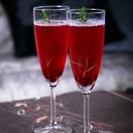 Drink z szampana i granatu + wersja bezalkoholowa