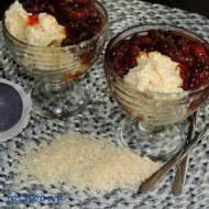 Kremowy pudding ryżowy z gotowanymi figami - Arroz con leche
