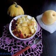 Pudding ryżowy i chińska gruszka nashi