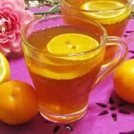 Rozgrzewająca herbatka miodowo- imbirowa z cytrusami
