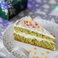 Naturalnie zielony biszkopt z delikatnym kremem (bez cukru)