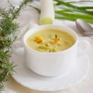 Zupa czosnkowo porowa