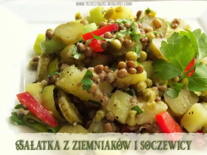 Sałatka z ziemniaków i soczewicy