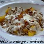 Deser z mango i imbirem