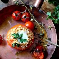 Pomidory faszerowane ryżem i mięsem