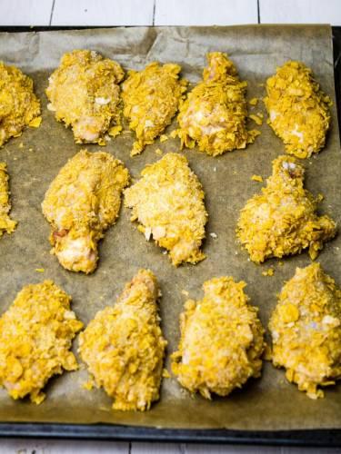 Chrupiące skrzydełka z kurczaka a'la KFC
