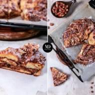 Ciasto drożdżowe z nutellą – wieniec drożdżowy z nutellą