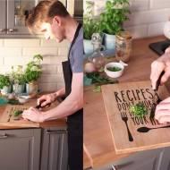 Mężczyzna w kuchni i najlepsza sałata do obiadu