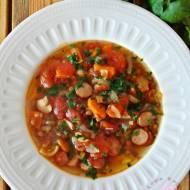 Zupa z czerowonej soczewicy z frankfurterkami