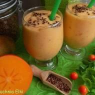 Koktajl jogurtowy z mango,kaki i siemieniem lnianym