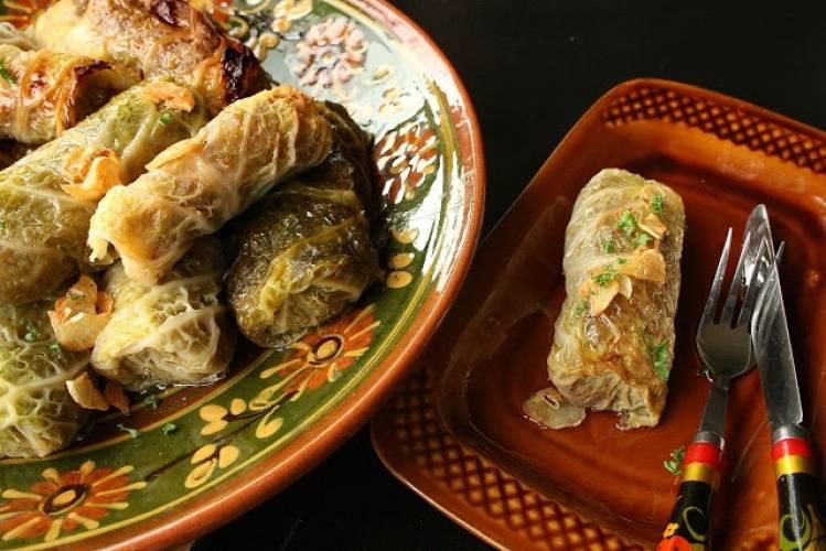 Gołąbki z ziemniakami i kiszką ziemniaczaną
