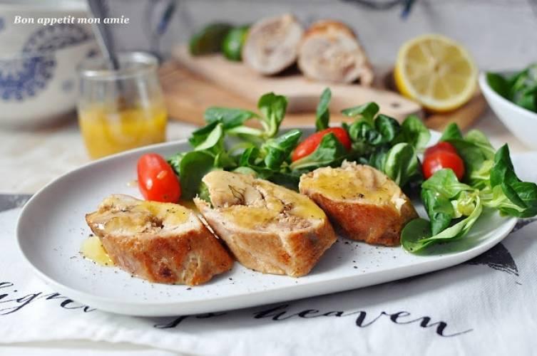 Roladki z kurczaka z sosem cytrynowo-imbirowym