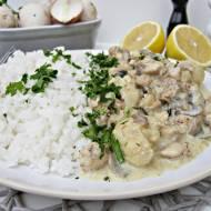 Potrawka z kurczaka z białymi warzywami