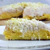 Sufletowy sernik z białą czekoladą i kokosowym budyniem (bezglutenowy)