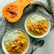Curry z kurczakiem, dynią i mlekiem kokosowym
