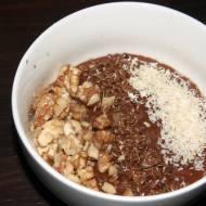 Orzechowo czekoladowa owsianka / Chocolate porridge with Nuts