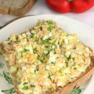 Pasta kanapkowa z jajkiem, szynką i szczypiorkiem