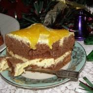 piernikowe ciasto z kremem z serka homogenizowanego...