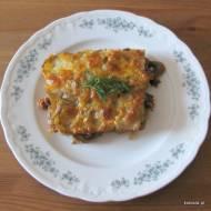 Zapiekanka z wołowiną, ziemniakami i pieczarkami