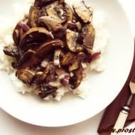 Pieczarki portobello z ryżem jaśminowym (bez glutenu)